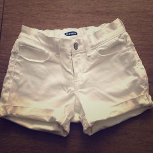 White shorts and jean shorts